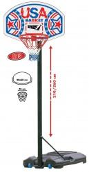 Basketball Kurv ''USA'' 210/260 cm mobil på stander