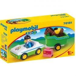 Bil med hestetrailer - PL70181 - PLAYMOBIL 1.2.3