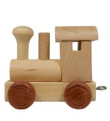 Bino Toys Navnetog - Træ - 6 cm - Lokomotiv