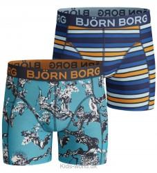 Björn Borg 2-Pak Boxershorts - Blå m. Mønster/Striber