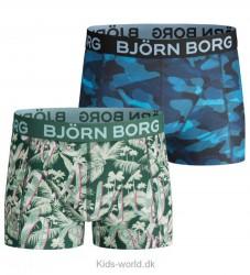 Björn Borg Boxershorts - 2-pak - Grøn/Navy m. Print