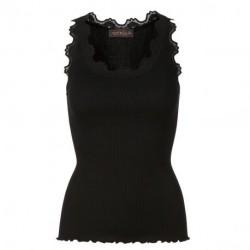 Black Silk Top - 5405-010 fra Rosemunde