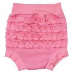 Ble badebukser fra Splash About - Pink Frill Soft Pink