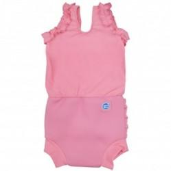 Ble badedragt fra Splash About - Soft Pink Frilly Bum