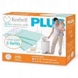 Blepose refill til Korbell Plus 26 liter blespand (3 pak)