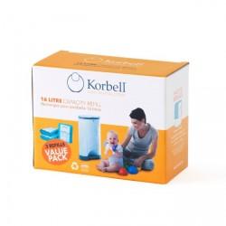 Blepose refill til Korbell standard 16 liter blespand (3 pak)