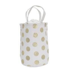 Bloomingville Opbevaringspose - Hvid med prikker