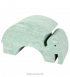 bObles Elefant - Grøn Marmor