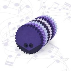 bObles Pindsvin med lyd multi lilla