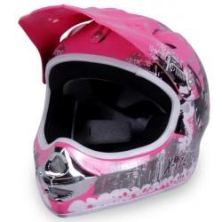 Børne Crosser Hjelm: Xtreme Pink - XS
