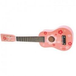 Børne Guitar Lyserød med Blomster - Vilac