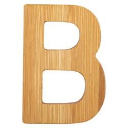 Bogstaver i træ bambus natur B