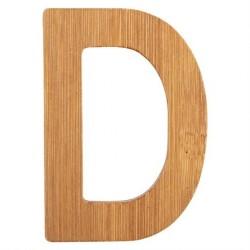 Bogstaver i træ bambus natur D