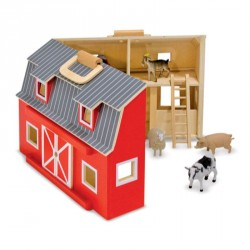 Bondegård m. dyr fra Melissa & Doug - Fold & Go Barn