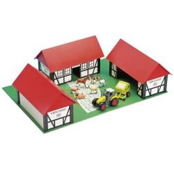 Bondegård med 3 huse