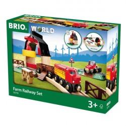 Bondegård-på-landet sæt - 33719 - BRIO Togbaner