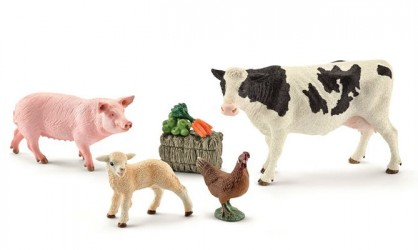Bondegårdsdyr fra Schleich - My first farm animals (7 dele)