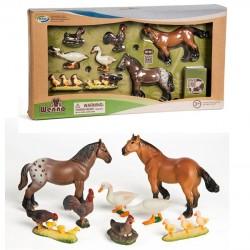 Bondegårdsdyr Heste + Bog