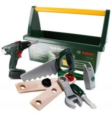 Bosch Mini Værktøjskasse m. Tilbehør - Legetøj - Mørkegrøn