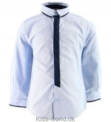 BOSS Skjorte - Lyseblå/Navy