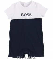 BOSS Sommerdragt - Navy/Hvid