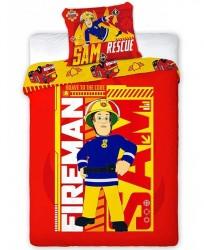 Brandmand Sam 2i1 Sengetøj (100 procent bomuld!)