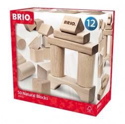 BRIO Byggeklodser Natur - 50 stk.