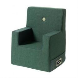 By KlipKlap Børnelænestol XL Dyb Grøn med lys grøn Knap