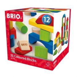 Byggeklodser, farvede, 25 stk. - 30114 - BRIO