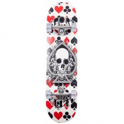 California Skull & Cards Skateboard