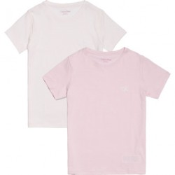 Calvin Klein 2 Pack T-shirt - Pink & Violet