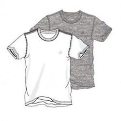 Calvin Klein 2-pak t-shirt - Grå/Hvid