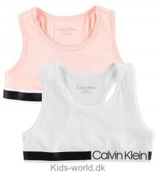 Calvin Klein Top - Beige/Hvid