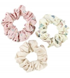 Cam Cam Scrunchies - 3-pak - Print Mix Rose