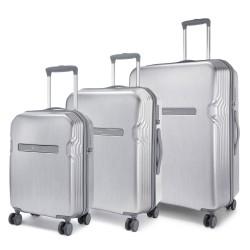 Carlton kuffertsæt - Insignia - Sølv