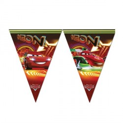 Cars Party Banner NEON