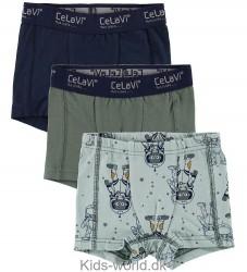 CelaVi Boxershorts - 3-pak - Blå/Grøn