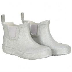 CeLaVi lave, smalle gummistøvler, sølv glitter