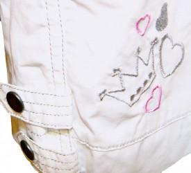 CHARMMY KITTY bukser, 3/4 lange, hvide KUN STR. 4 ÅR