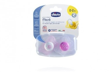 Chicco Physio micro sut, Silikone 0-2 mdr. - Pink