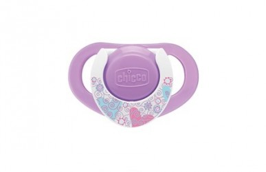 Chicco Physio Soother 12m+ Latex Sut, 2 stk. - Pink