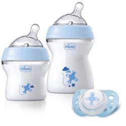 Chicco sutteflasker - Gavesæt - Blå
