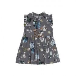 Christina Rohde Dark Grey Floral Dress