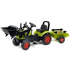 Claas Arion 410 Pedal traktor til børn m/Trailer og Frontskovl