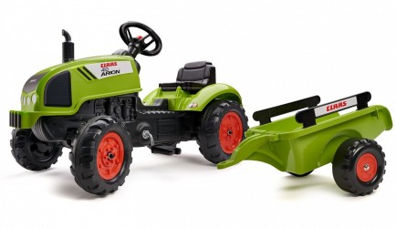 Claas Arion 410 Pedal traktor til børn m/trailer