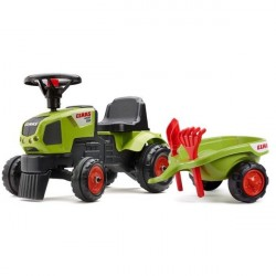 Claas Axos Gå-Traktor med Trailer og værktøj