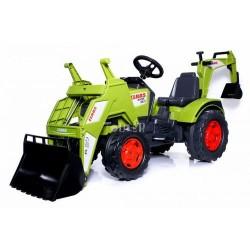 Claas Axos Traktor m/Frontskovl + Gravekran