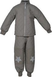 Coated termotøj fra Mikk-Line - Foret jakke - Falcon Brown