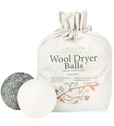 Cocoon Company Vaskebolde - Uld - 4-pak - Grå/Hvid