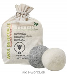 Cocoon Company Vaskebolde - Uld - 6-pak - Grå/Hvid